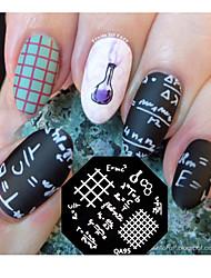 nail art imagem da placa de estampagem molde do selo fórmula matemática padrão qa95
