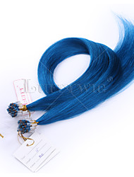 10A TOP Grade Micro Loop Hair extensions Blue Color Straight 8-28inch 100g 100% Brazilian Human Hair
