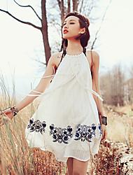 Aporia.As Women's Halter Sleeveless Knee-length Dress-MZ01208