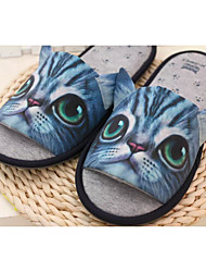 Unisex Slippers & Flip-Flops Spring / Summer / Fall Scuff Spandex Fabric Casual Flat Heel Animal Print Blue /