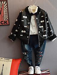 Boy's Casual/Daily Polka Dot Jeans / Jacket & CoatCotton Fall Black / White