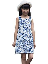 Vestito Girl Casual Con stampe Cotone Estate Blu