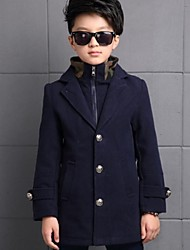 Boy's Casual/Daily Solid Jacket & Coat / Trench CoatPolyester Winter Blue / Brown