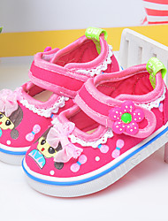 Girls' Sandals Spring Fall Light Up Shoes Cotton Outdoor Flat Heel Bowknot Peach Blushing Pink Walking