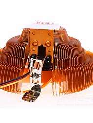 ventilateur de cpu de placage de cuivre amd intel cpu général radiateur muet