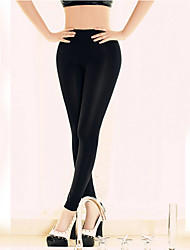 Women Solid Color Legging,Nylon