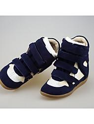 Women's Heels Spring / Summer / Fall / Winter Comfort Suede Casual Wedge Heel Magic Tape