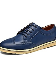 Westland's Men's Oxfords/Comfort Leather/British Style/Bullock/Leisure Shoes/Casual Dress/Blue
