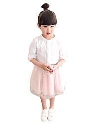 Mädchen Rock-Ausgehen einfarbig Baumwolle Sommer Rosa / Grau