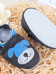 Unisex-Flache Schuhe-Lässig-Leder-Flacher AbsatzBlau