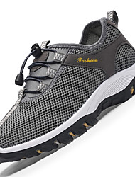 Men's Athletic Shoes Comfort Synthetic Outdoor / Athletic Flat Heel Gore / Lace-up Blue / Gray / Khaki