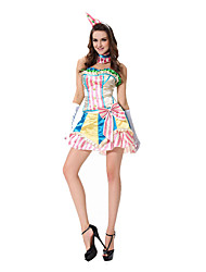 Costumes More Costumes Halloween Pink Print Terylene Dress / More Accessories