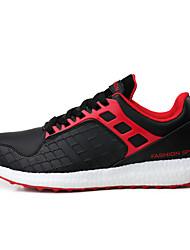 Femme-Extérieure / Décontracté / Sport-Orange / Noir et rouge / Noir et blanc-Talon Plat-Confort-Sneakers-Microfibre
