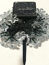 1шт 7м 50 привели солнечной энергии струны света для праздника венчания партии водить Праздничное освещение