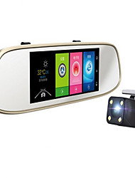 Intelligent 7 Inch HD Screen Navigation Free Phone Travelling Data Recorder / Rear View Mirror