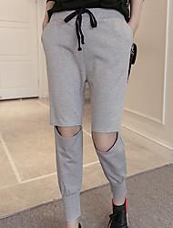 De las mujeres Pantalones Chinos-Simple / Activo Microelástico-Poliéster
