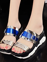Women's Sandals Summer Platform PU Casual Wedge Heel Others Blue / Green / Red Others