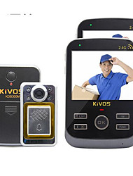 KiVOS KDB300M Intelligent Wireless Doorbell Peephole One Household Monitoring Intercom Camera
