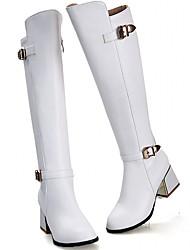 Homme-Mariage Bureau & Travail Habillé Décontracté Soirée & Evénement Work & Safety-Noir Blanc-Gros Talon-Nouveauté Bottes de Cowboy /