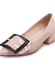 Women's Heels Fall Pointed Toe PU Casual Low Heel Others Black / Beige Others