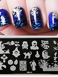 Halloween Manicure Printing Plate Nail Polish Seal Template Painting Tool