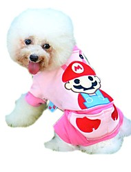 Cute Cartoon Pattern Jumpsuits for Pets Dogs (Assorted Sizes and Colours)