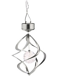 Solar Powered Lamp Spinner Wind Chime Color Changing Pendant Outdoor Yard Hanging Spiral Garden Decoration Light