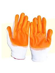 luvas de PVC nylon 10 pares embalados para venda