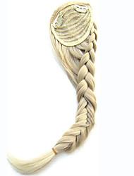 mulheres sintéticos tranças longas tranças inclinado clipe bangs em Bang cabelo calor fibra sintética resistente ao cabelo bonito franja