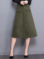 Women's Solid Black / Green SkirtsVintage