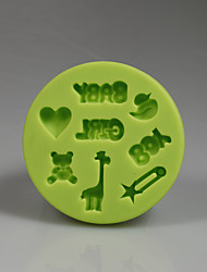 8 Cavity boy and girl shape fondant cake mold kitchen tools silicone mold