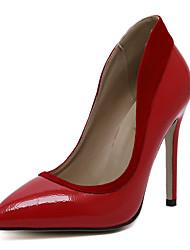 Damen-High Heels-Hochzeit Kleid Party & Festivität-Kunstleder-Stöckelabsatz-Komfort Neuheit Pumps-Schwarz Rot