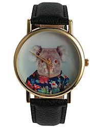 Decorative Cartoon Cute Little Bear Flower Ladies Watch