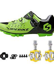 Tênis Sapatilhas de Ciclismo com Travas & Pedal Unisexo Almofadado Bicicleta de Estrada