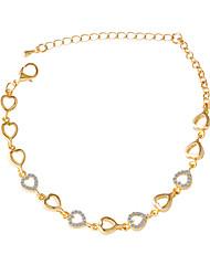 Bracelet/Chain Bracelets Alloy / Rhinestone Heart Fashionable / Adorable Daily / Casual Jewelry