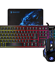 MIIMALL K9 ABS Colorful LED Illuminated Wired USB Gaming Backlit Keyboard and Mouse Combos
