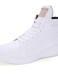 Masculino-Botas-Conforto Botas Montaria Botas da Moda-Rasteiro-Preto Branco-Microfibra-Ar-Livre Para Esporte Casual
