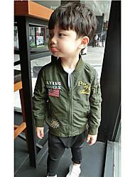 Casual/Dagelijks-Print-Modaal-Lente / Herfst-Boy's-Kostuum & Blazer-Groen