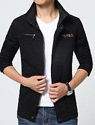 New winter Men's windbreaker fashion long-sleeved jacket coat leisure coat HXTX-6658S