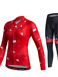 Miloto Maillot et Cuissard Long de Cyclisme Femme Unisexe Manches Longues Vélo Pantalon/Surpantalon Survêtement Maillot Collants
