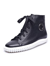 Women's Boots Spring / Summer / Fall / Winter Comfort Leather Casual Flat Heel Lace-up