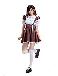 Costumes Plus de costumes Halloween Blanc / Café Mosaïque Térylène Robe / Plus d'accessoires