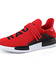 Men's Sneakers Spring / Fall Comfort Tulle Outdoor / Athletic / Casual Lace-up Black / Yellow / Red Tennis / Walking /