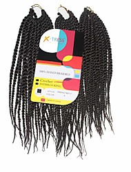 Senegal Twist Medium Brown Color 4 Synthetic Hair Braids 12inch Kanekalon 81 Strands 125g  Multipal Pack for Full Heads