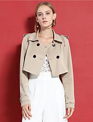 c + impressionner femmes sortant simple ressort / descente blazersolid peter manches longues moyenne de polyester beige col claudine