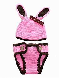 Fashion Baby Acrylic Casual/Daily Rubbit Style Hoodie Sleepwear Patchwork All Seasons