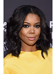Short Bob Natural Wave Synthetic Hair Wigs Natural Black Heat Resistant Lace Front Wigs For Black Women