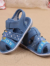 Boy's Sandals Spring / Summer / Fall Sandals PU Outdoor / Casual Flat Heel Bowknot Black / Blue / Brown Walking