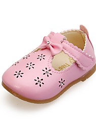 Girl's Flats Summer Flats PU Casual Flat Heel Bowknot Pink / Red / White Others