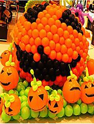 5pcs halloween decoração de balões balão padrão de atividades de cores de 12 polegadas inferior lisa de espessura é aleatória